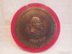 Lenin 1967 XI.7. bronz plakett