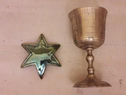 Zsolnay eozin Dávid-csillag, kidus-pohár.