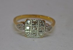 Szépséges antik art deco 0.31ct gyémánt,aranygyűrű