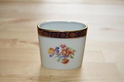 PM korona jelzésű antik porcelán fogvájó tartó