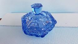 Kék üveg bonbonier