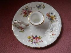 Gyertyatartó - porcelán -
