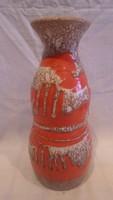 Zsűrizett retro iparművész kerámia váza 25,5 cm