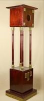 Art deco posztamens réz díszekkel szegéllyel politúrozott mahagóni 152 cm