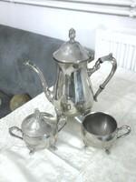 3 darabos,ezüstözött kávészervírozó