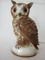 Német porcelán bagoly lámpa