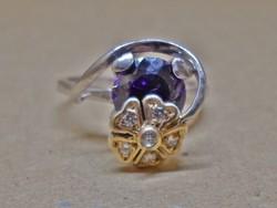 Egyedi szép dizájner ezüst  gyűrű
