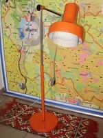 Extrém ritka, art deco, szarvasi, fém, narancsszínű állólámpa