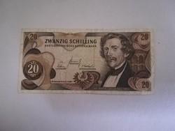 1967-es 20 Schilling VF++ (SORSZÁM VÁLTOZHAT !!)