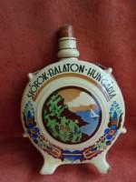 Ritka Gránit porcelán Siófok-Balaton Hungária feliratos kulacs