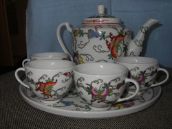 Kínai porcelán kávés készlet kézzel festett