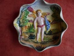 Capodimonte porcelán angyalos tálka
