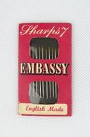0T706 Antik angol Embassy varrótű csomag