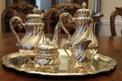 Német ezüst teás készlet
