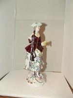 Sitzendorf német porcelán, puskák hölgy, vadász