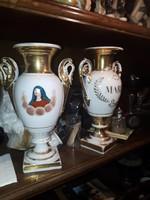 2db antik porcelán váza