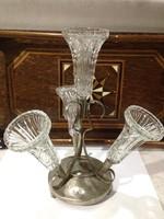 Angol Art Deco ezüstõzõtt asztalközép.virágtartó asztaldísz