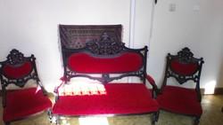 Magyar reneszánsz ülőgarnitura 1850 körül
