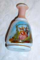Antik sorszámozott  illatszeres opál üveg