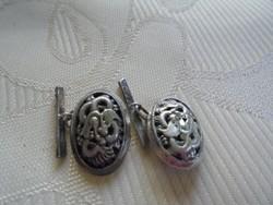 Sárkány figurás ezüst mandzsetta gomb