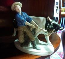 Grafenthal porcelán, ember bikával