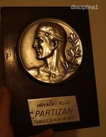 PARTIZÁN SZABADKA FOCICSAPAT PLAKETT, HRVACKI KLUB PARTIZAN SUBOTICA 1958