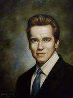 Portré Arnoldról, olaj vászonra, 38 x 48 cm