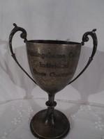 Serleg - antik - angol - egyetemi - sakkbajnokság első díj 17 x 12 cm