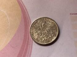 1912  ezüst 2 korona 10 gramm szép db