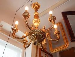 Laparanyozott faragott barokk csillár 20.szd. első feléből