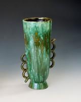 Nagyméretű zöld váza