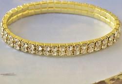 9K Gold Filled karkötő CZ kristályokkal