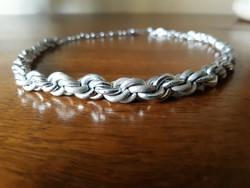 Exkluzív ezüstözött fonott nyaklánc