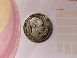 1876 ezüst 1 florin szép patina