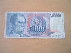 JUGOSZLÁVIA 5000 DINÁR 1985 J.B.TITO AM
