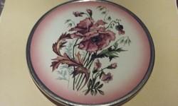 Antik edényalátét/tál fémkeretben