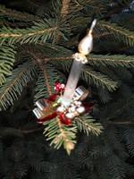 Különleges,ritka csíptetős gyertya, karácsonyfadísz