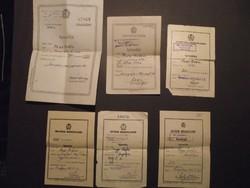 Tervkölcsön, békekölcsön igazolások, 1949-1955, egy névre szólnak