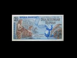 UNC - 2 1/2 - KETTŐ ÉS FÉL RUPIA - INDONÉZIA 1961 !!!