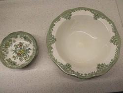 Wedgwood fajansz kompótos tál négy tányérkával