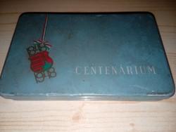 Lemez cigarettatartó doboz CENTENÁRIUM 1848-1948