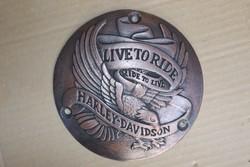 Harley Davidson dísz plakett 15cm Live to ride