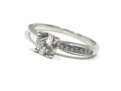 Női fehér arany gyűrű ( Kecs-Au69422 )