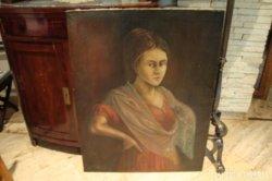 Szántó L. '925 női portré olajfestmény