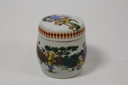 Eladó kínai porcelán fedeles dobozka