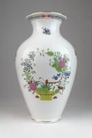 0T875 Herendi indiai kosaras porcelán váza 23 cm