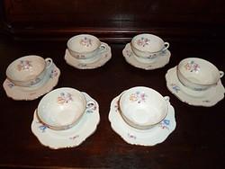 Antik teás készlet vitrin állapotban