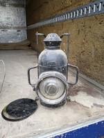 Antik mozdonylámpa, szemafor lámpa!