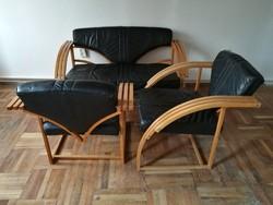 Extra skandináv design ülőgarnitúra bőrrel borítva