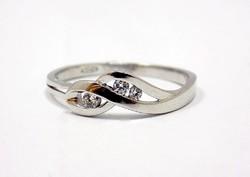 Fehér arany köves gyűrű (ZAL-Au70369)